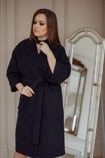Пальто 20905  (синий/кашемир)