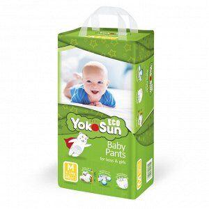 Одноразовые детские подгузники-трусики YokoSun Eco размер М (6-10 кг) 48 шт.