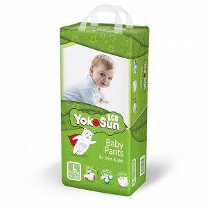 Одноразовые детские подгузники-трусики YokoSun Eco размер L (9-14 кг), 44 шт.