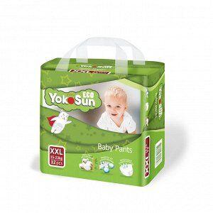 Одноразовые детские подгузники-трусики YokoSun Eco размер XXL (15-23 кг), 32 шт.
