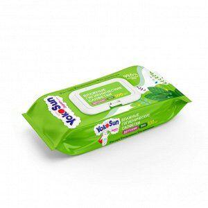 Детские влажные антибактериальные-гигиенические салфетки YokoSun ECO 100шт