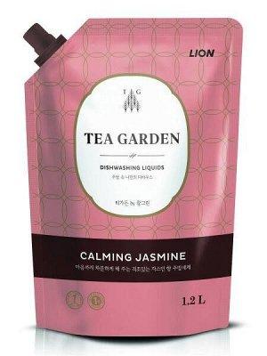 LION Концентрированное средство для мытья посуды Chamgreen Tea Garden Жасмин, мягкая уп., 1250 гр