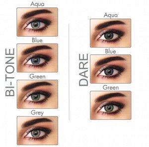 Перекрывающие цветные контактные линзы (EyeMed) ADORE DIOPTR (2 линзы) ПЛЮСОВЫЕ!