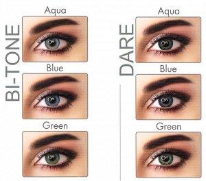Перекрывающие цветные контактные линзы (EyeMed) ADORE DIOPTR (2 линзы) большие минусы
