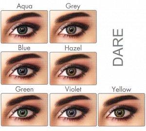 Перекрывающие цветные контактные линзы (EyeMed) ADORE PLANO Линейка DARE (2 линзы)