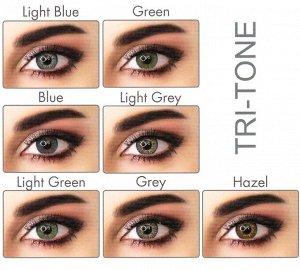 Перекрывающие цветные контактные линзы (EyeMed) ADORE DIOPTR Линейка TRI (2 линзы)