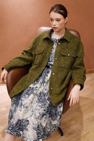 Пальто Цвет: оливковый