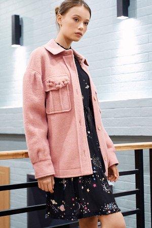 Пальто Цвет: розовый