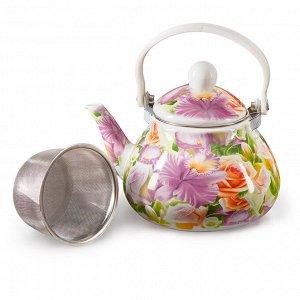 """Чайник 1,3 л с фильтром EM-131X1/8 """"Орхидея"""""""