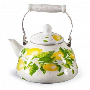 """Чайник 3 л с керамической ручкой EM-301X1/62 """"Лимоны"""""""