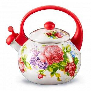 """Чайник 2,5 л со свистком ЕМ-25101/63 """"Летний сад"""""""