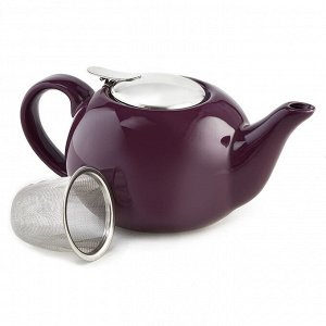 Чайник заварочный 750 мл с металлическим фильтром Ф19-011R фиолетовый