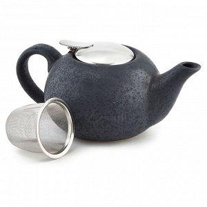 Чайник заварочный 750 мл с металлическим фильтром Ф19-031R темно-серый