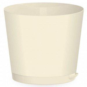 Горшок для цветов 160 мм 2 л с прикорневым поливом Easy Grow ING47016МЛ молочный