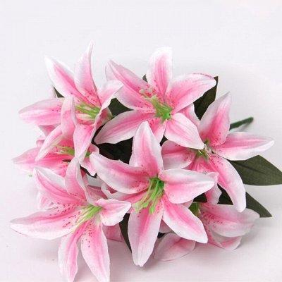 🌹Искусственные цветы для декора!🌸Родительский день🥀 — Лилия 55 рублей — Искусственные растения