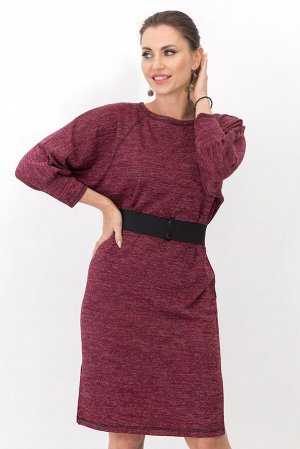 Платье Элли (бордо) с пояском П1224-15