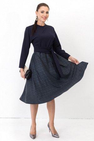 Платье Выход леди (синяя кожа) П1232-8