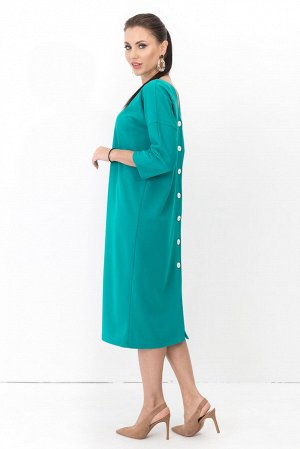Платье двустороннее Лилит (2в1 бирюза) П1226-11