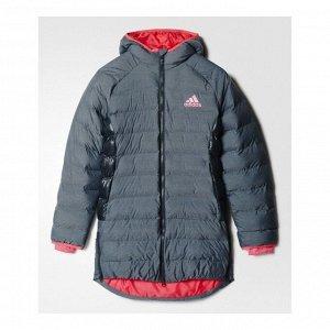 Куртка детская Модель: YG SD COAT DKGREY/BAHPNK Бренд: Adi*das