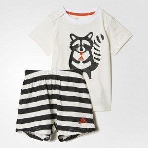 Спортивный костюм детский Модель: I SUM SET FUN B WHITE/BLACK Бренд: Adi*das