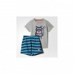 Спортивный костюм детский Модель: I SUM SET FUN B MGREYH/LABGRN Бренд: Adi*das