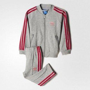 Спортивный костюм детский Модель: I TRF FT SST MGREYH/EASPNK/BOPINK Бренд: Adi*das