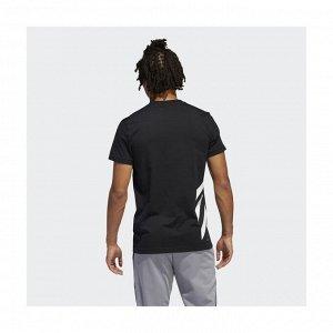 Футболка мужская Модель: 3 STRIPE SS BLACK Бренд: Adi*das