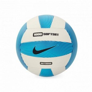 Мяч волейбольный Модель: Ni*ke 1000 SOFTSET OUTDOOR VOLLEYBALL INFLATED WITH BOX NS ELECTRIC GREEN/WHITE/GAMMA BLUE/BLACK Бренд: