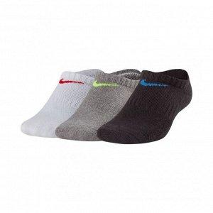 Носки Модель: Kids' Ni*ke Performance Cushioned No-Show Training Socks (3 Pair) Бренд: Ni*ke