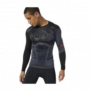 Футболка мужская Модель: OST LS Comp Tee - Printed Бренд: Reeb*ok