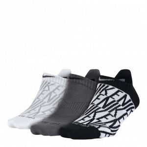 Носки Модель: Women's Ni*ke Dri-FIT Cushion Graphic No-Show Training Socks (3 Pair) Бренд: Ni*ke