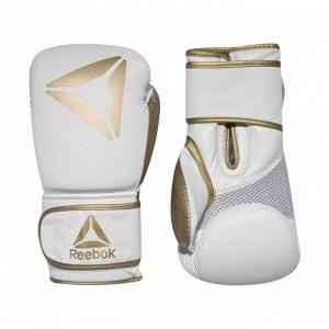 Перчатки Модель: Retail 10 oz Boxing Gloves - Gold / White Бренд: Reeb*ok