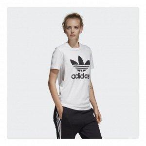 Футболка женская Модель: TREFOIL TEE white,black Бренд: Adi*das