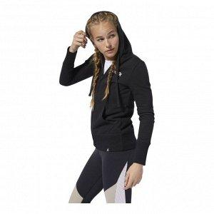 Джемпер женский Модель: RC Zip Hoodie BLACK Бренд: Reeb*ok