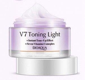 769448 BIOAQUA V 7 Увлажняющий крем для лица с тонирующим эффектом (Фиолетовый), 50 мл,12 шт/уп