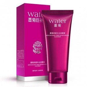 783543 BIOAQUA WATER Пенка для умывания с экстрактом хризантемы (отбеливающая), 100 г, 12 шт/уп