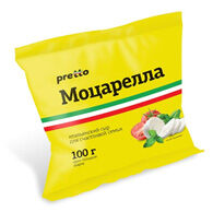 """Моцарелла Фиор Ди Латте в воде """"Pretto"""" 45% 0,1кг."""