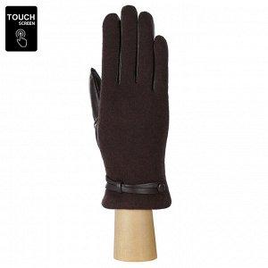 Перчатки, комбинированная кожа, Fabretti FS2-2 brown