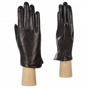Перчатки, кожа, FABRETTI F23-1/12 black/blue