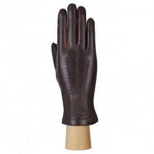 Перчатки, кожа, FABRETTI F6-2 brown