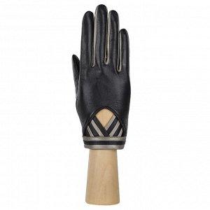 Перчатки, кожа, FABRETTI 12.63-1s black