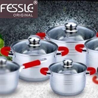 Удобная кухня💥 Сковородки AMERCOOK💥 Спецпредложение% — Набор кастрюль Fessle - выгодное предложение! — Посуда