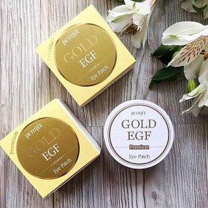 Гидрогелевые патчи для век с золотом и EGF Petitfee Premium Gold & EGF Eye Patch 60 шт
