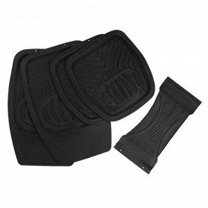Коврики автомобильные TORSO, резина, 70х48 см, 48х48 см, черный, набор 5 шт