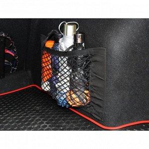 Сетка багажная TORSO для ниш, карман 25х40 см, на липкой ленте