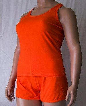 Комплекты Комплект майка с узкой бретелькой и шорты из высококачественного хлопка. Хлопок 100%. Цвет черный, белый, красный, зеленый, голубой, фиолетовый, светло розовый, ментоловый, желтый, оранжевый
