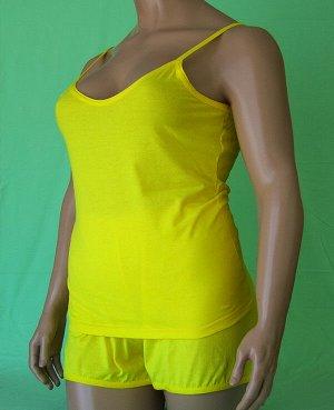 Комплекты Комплект майка с глубоким вырезом и шорты из высококачественного хлопка. Хлопок 100%. Цвет черный, белый, красный, зеленый, голубой, фиолетовый, светло розовый, ментоловый, желтый, оранжевый