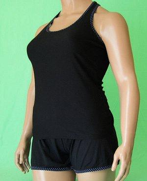 Комплекты Комплект майка борцовка и шорты. Хлопок 100%. Цвет комплекта черный.