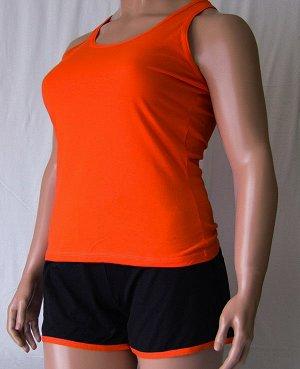 Комплекты Комплект майка с узкой бретелькой и шорты черного цвета с цветной отделкой из высококачественного хлопка. Хлопок 100%. Цвет майки белый, красный, зеленый, голубой, фиолетовый, светло розовый