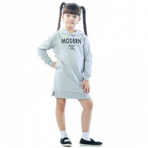 Платье детское  ФП5013П2 серый-меланж